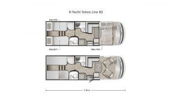 Mobilvetta K-Yacht Tekno Line 85 full